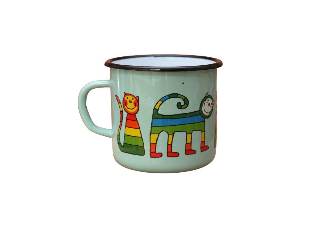 4169 turqoise mug with a cat