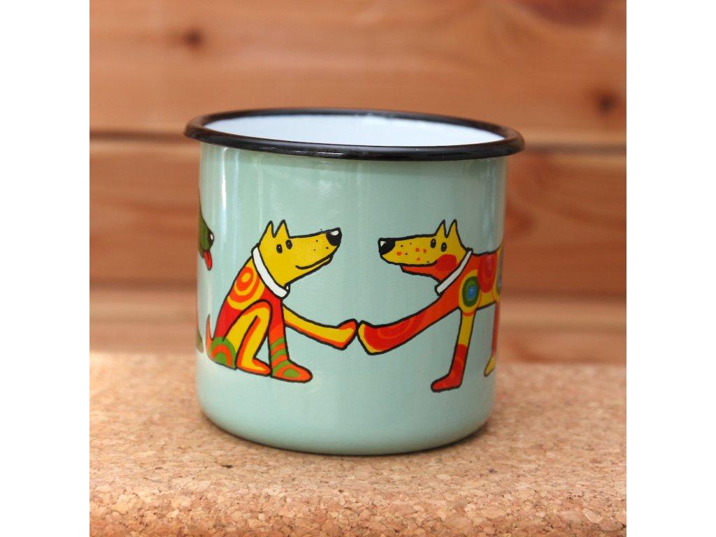 4178 turqoise mug with a dog