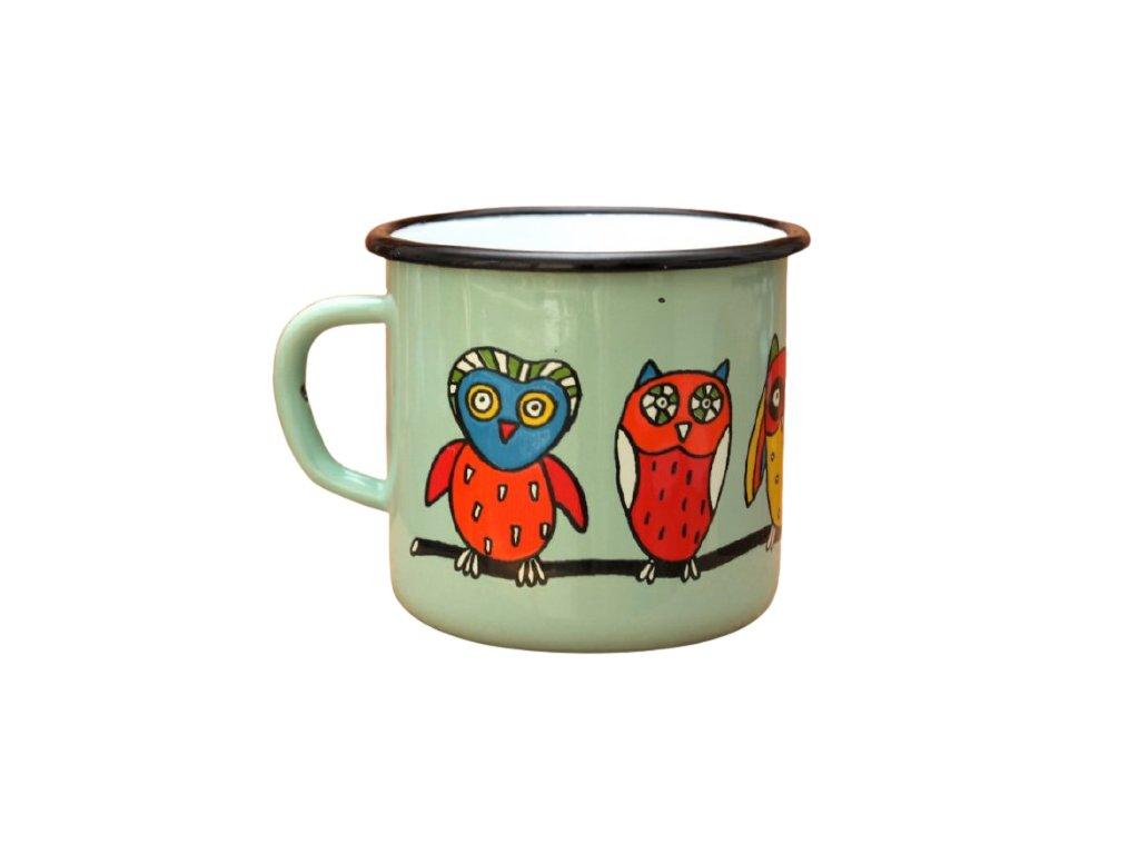 4181 turqoise mug with an owl