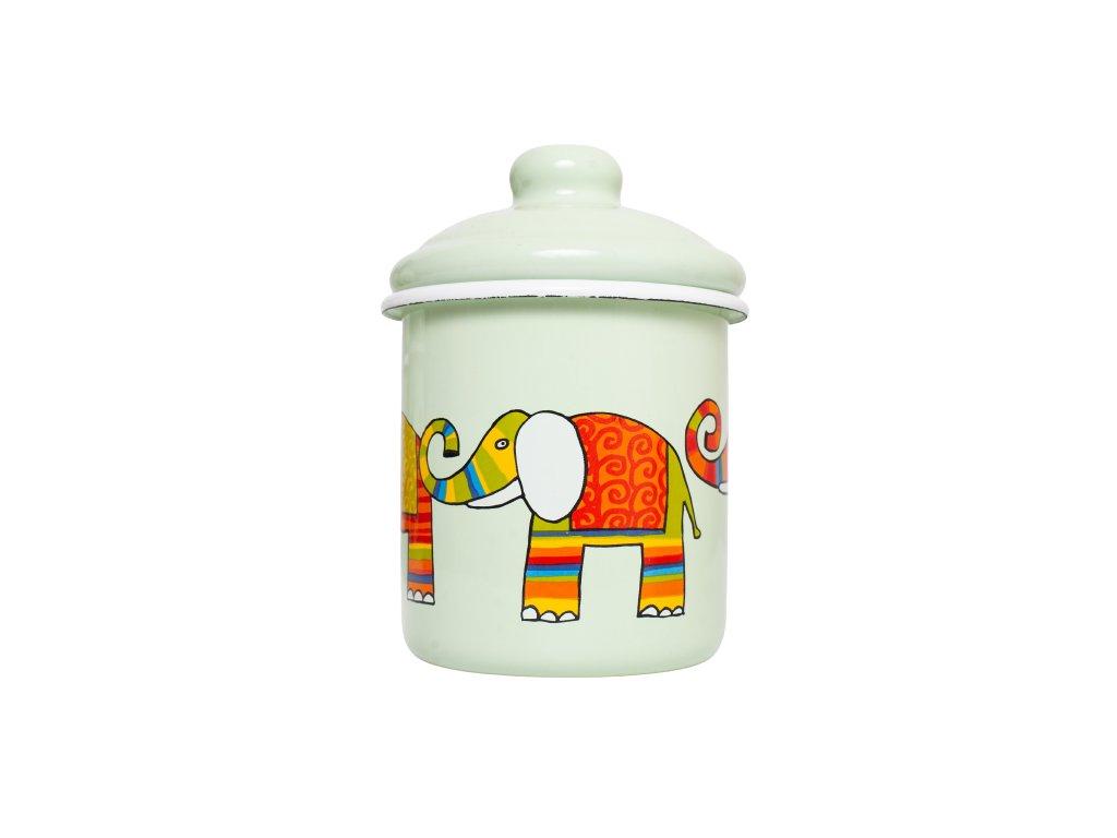 Smaltovana cukrenka zelena slon removebg preview