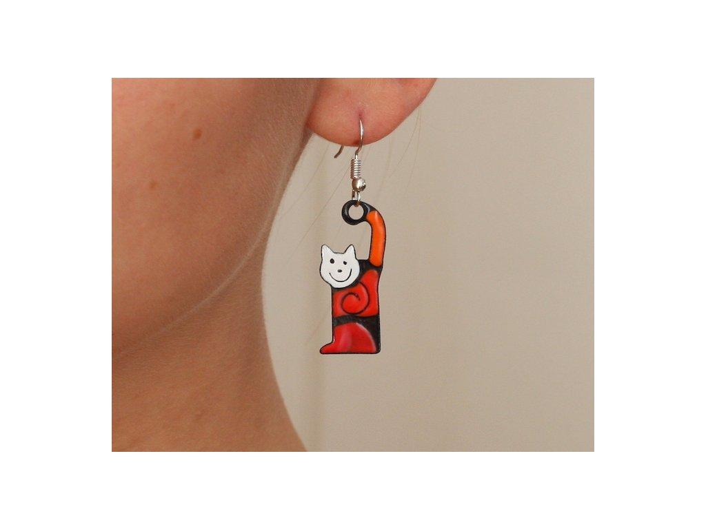 527 cat earrings