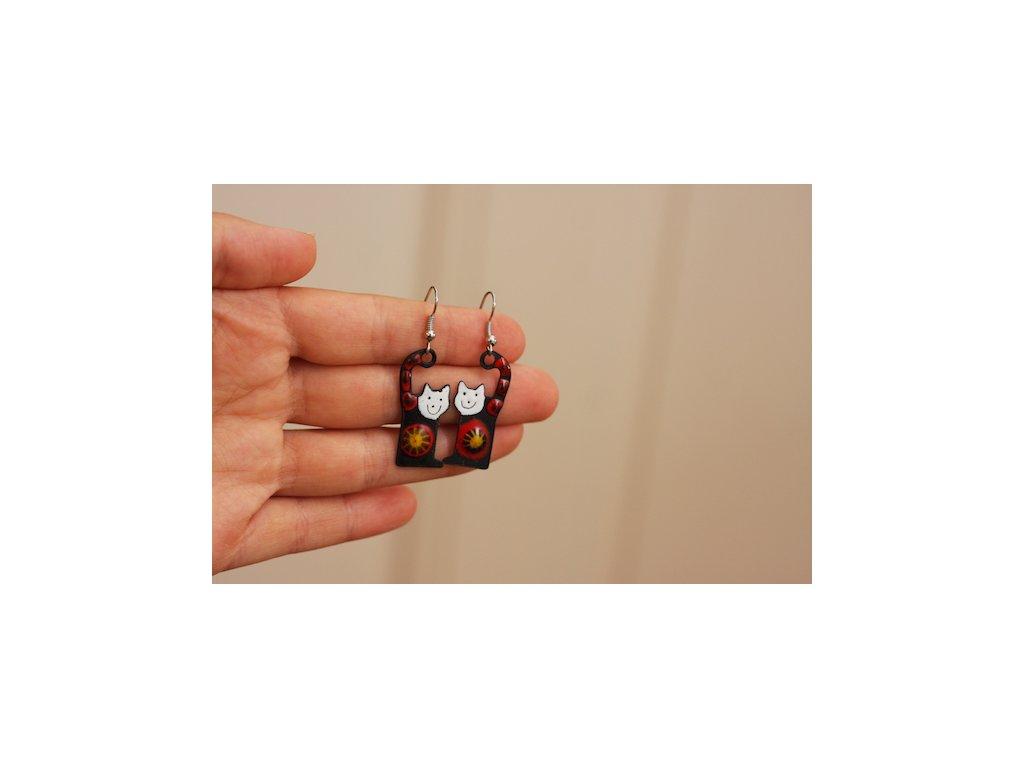 Náušnice kočka / cat earrings
