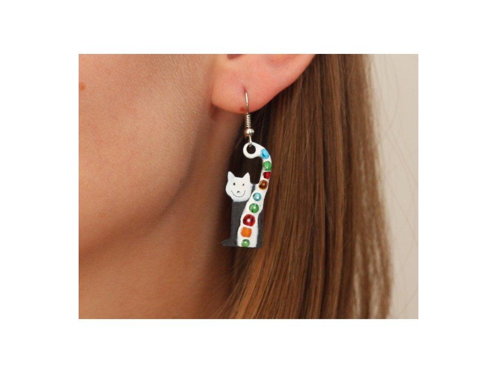 536 cat earrings