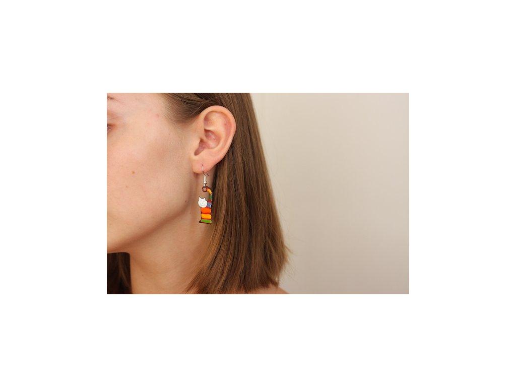 539 cat earrings