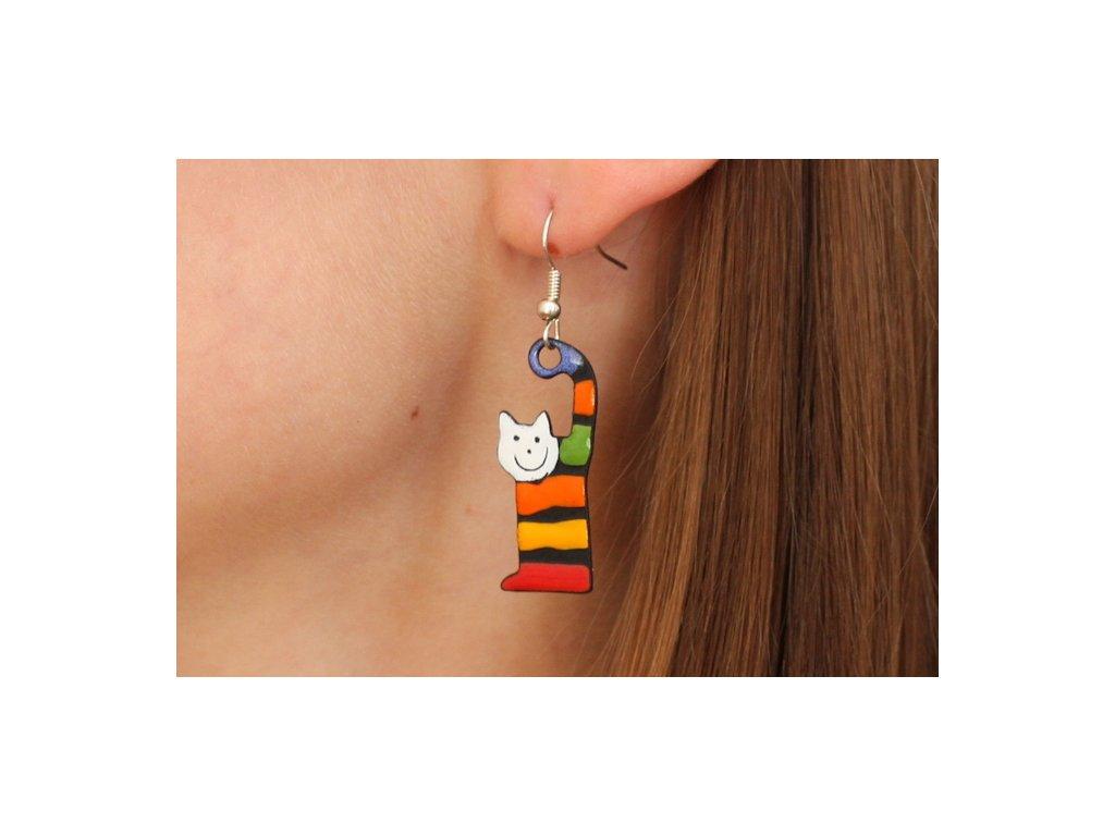 542 cat earrings