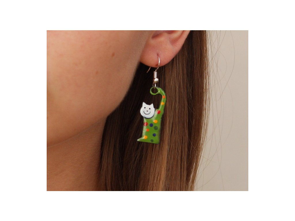 545 cat earrings