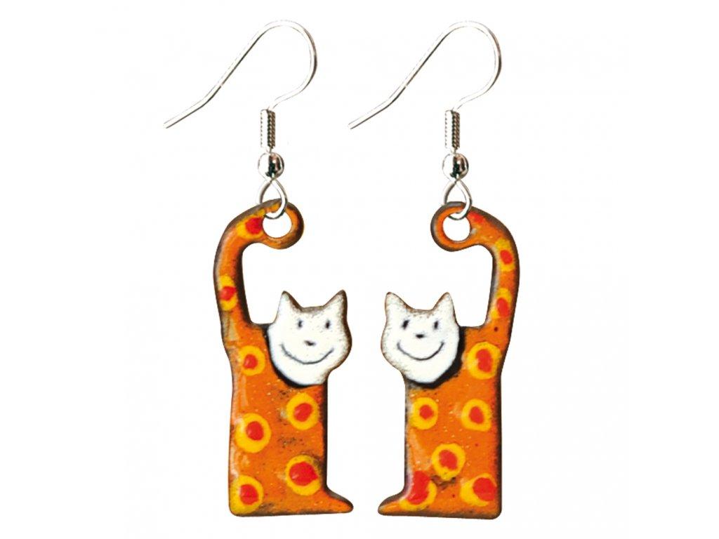 548 cat earrings
