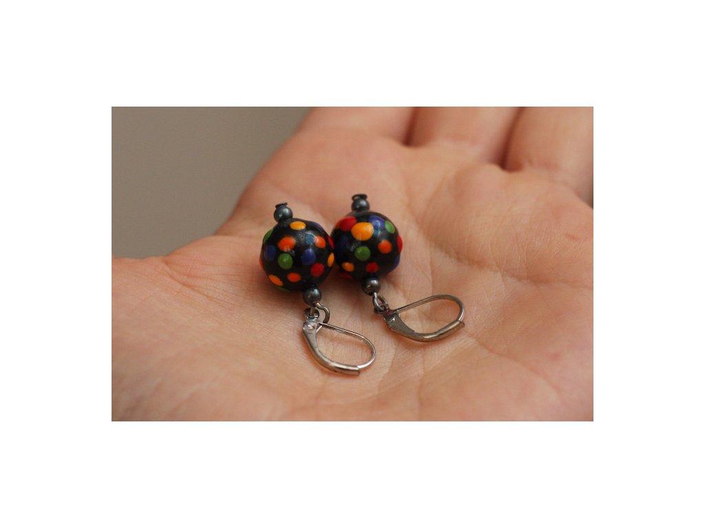 587 earrings ball
