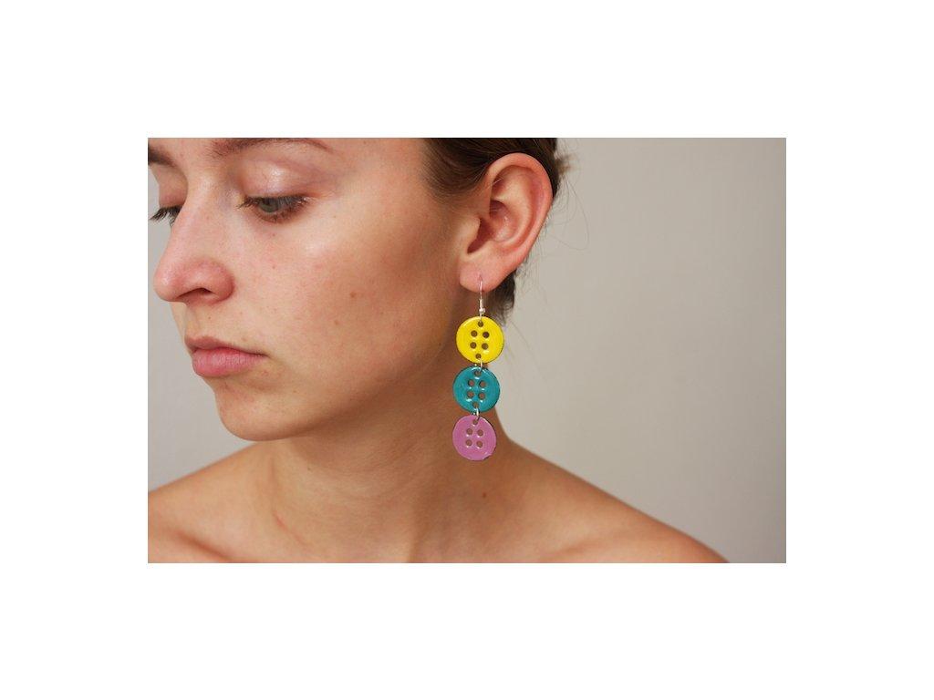 599 button earrings