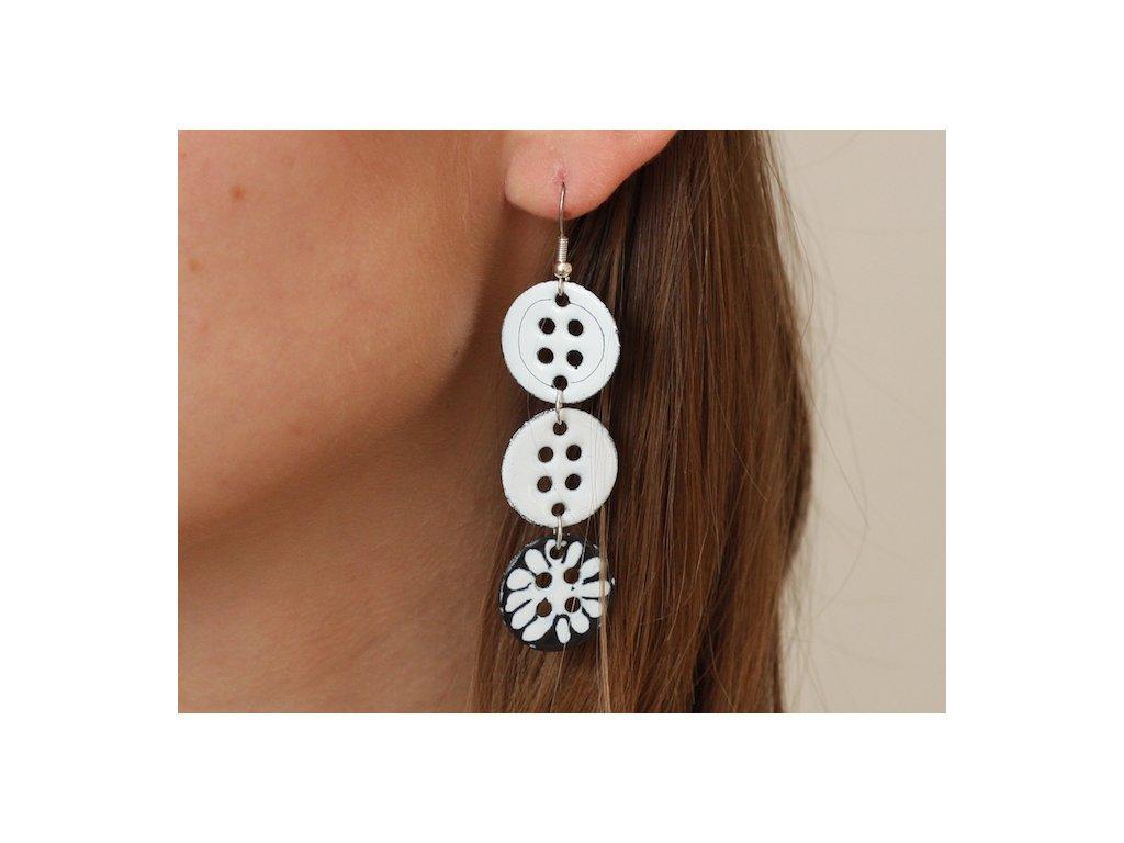 602 button earrings