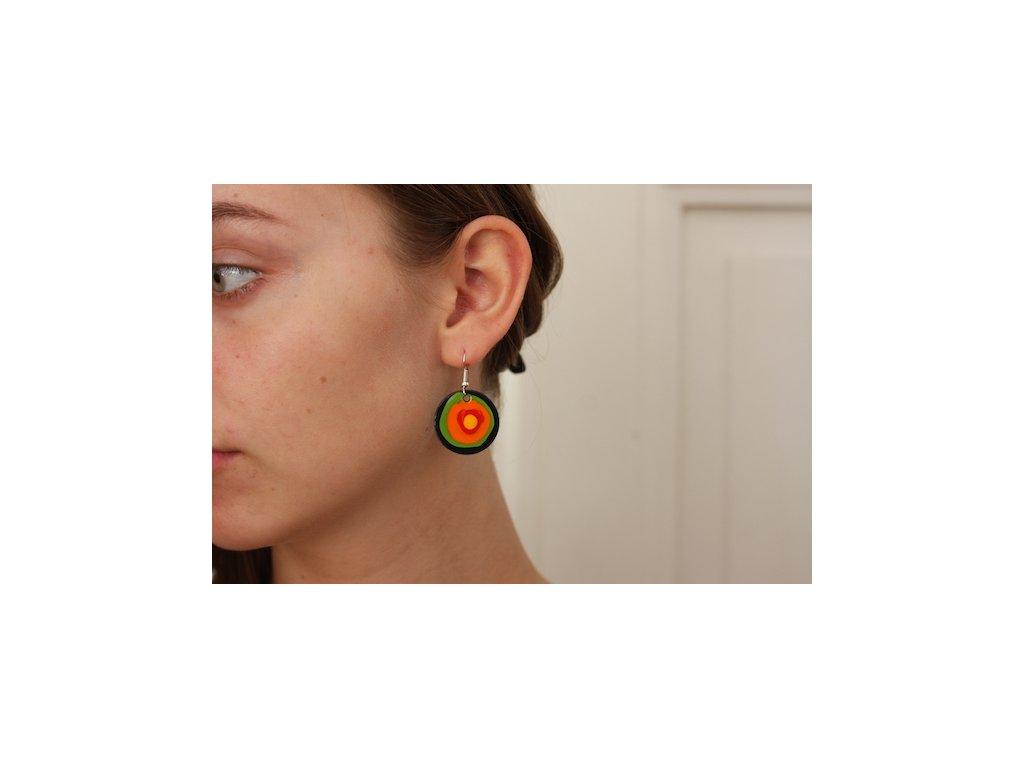 617 earrings simple