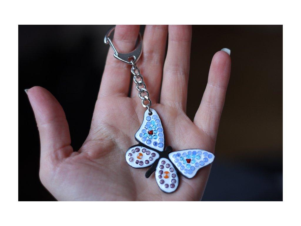 674 keychain butterfly