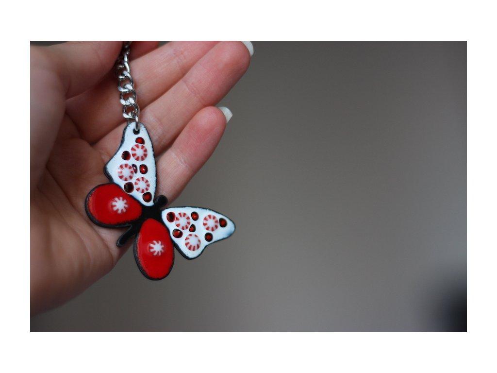 677 keychain butterfly