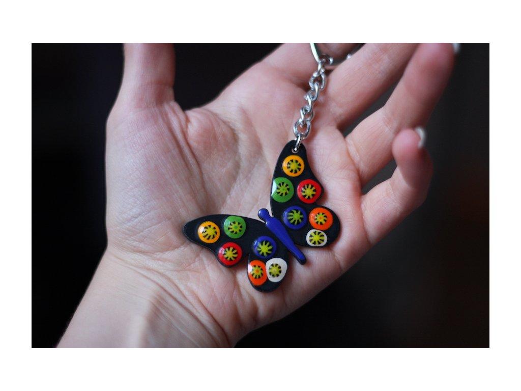 689 keychain butterfly