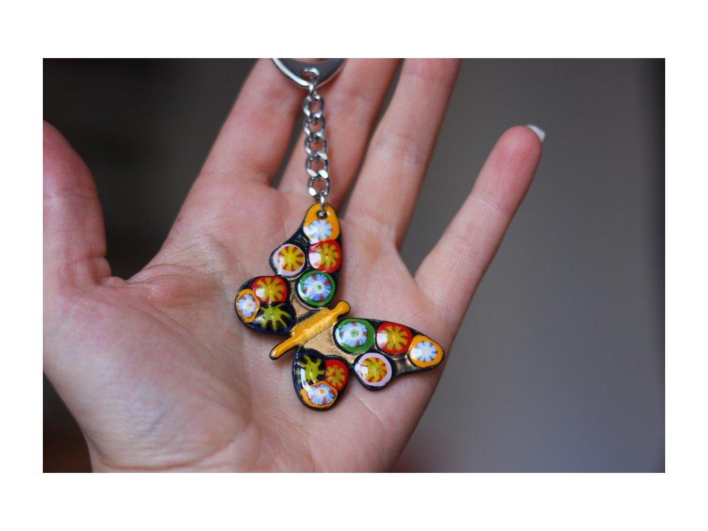 695 keychain butterfly