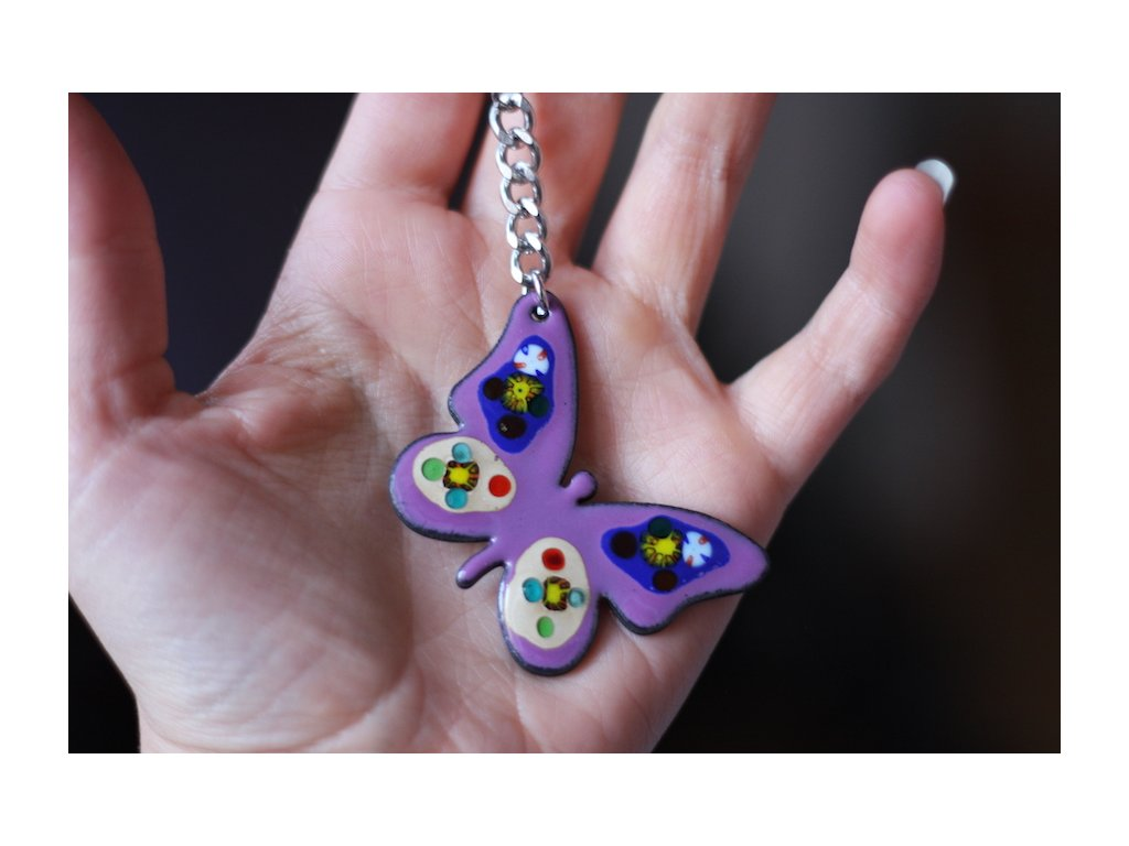 698 keychain butterfly