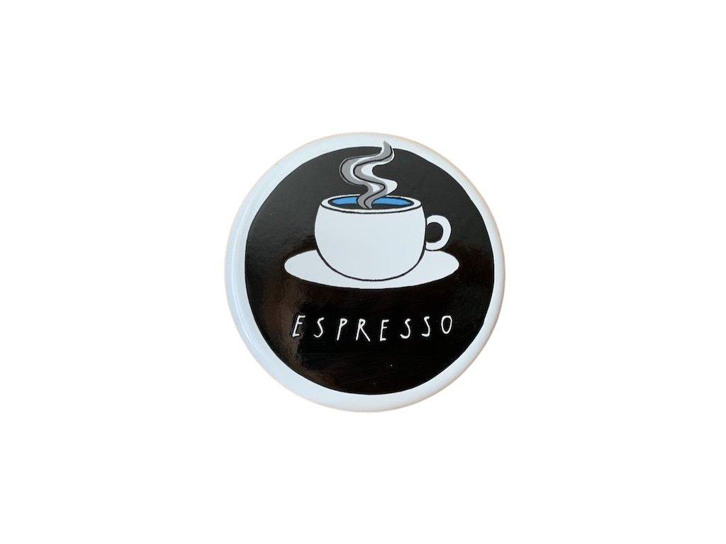 773 enamel sign espresso