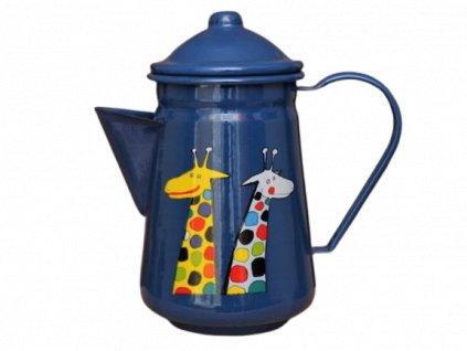 1014 coffee pot with giraffe