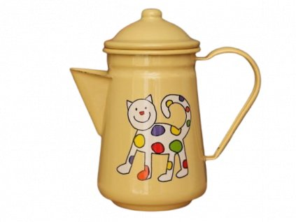 1020 coffee pot with kitten