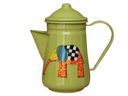 1038 coffee pot with elephant