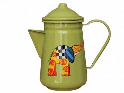 1041 coffee pot with elephant