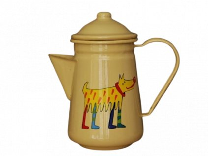 1053 coffee pot with a dog