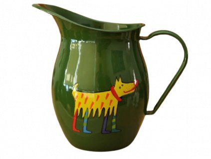 1167 pitcher with a dog