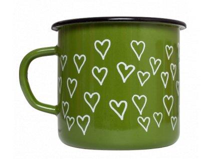 Espresso hrnek smalt zeleny srdce 3 removebg preview