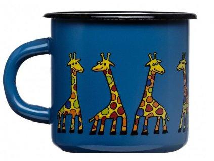 122 10 enamel mug navy blue motive giraffe