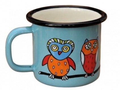 1401 mug with an owl