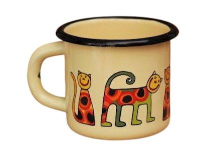 1503 enamel mug cream motive cat