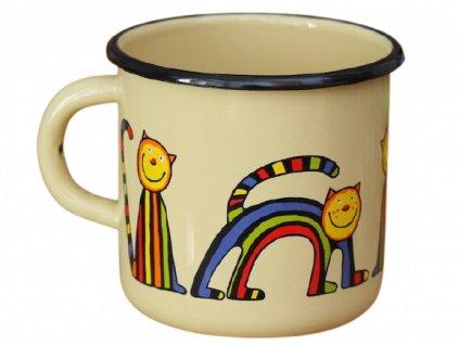 1506 enamel mug cream motive cat