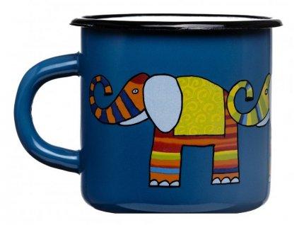 1539 enamel mug navy blue motive elephant