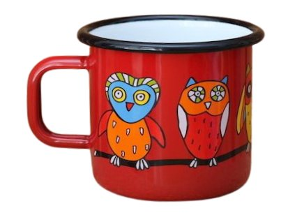 1677 mug with an owl