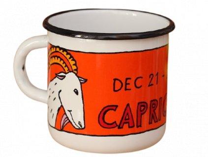 1725 enamel mug white zodiac sign capricorn
