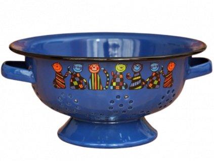 1932 colander 7 cats dark blue