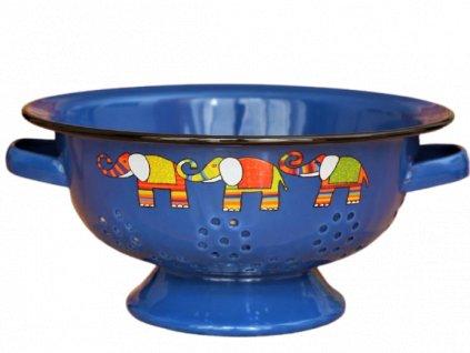 1950 colander elephant dark blue
