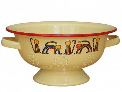1965 colander stripy cats yellow