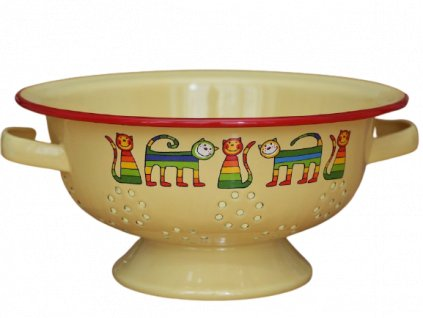 1968 colander rainbow cats yellow