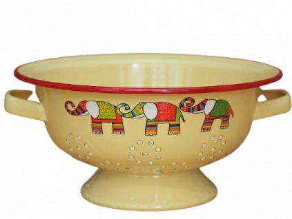 1974 colander elephant yellow