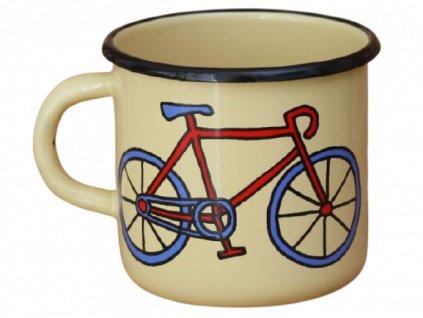 2061 enamel mug cream motiv bikes