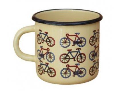 2064 enamel mug cream motiv bikes