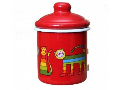 2138 red sugar bowl rainbow cat