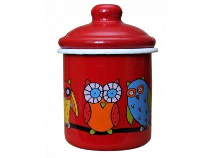 2150 red sugar bowl owl