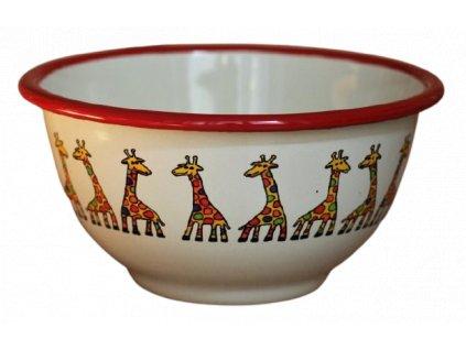 2171 cream bowl with giraffe