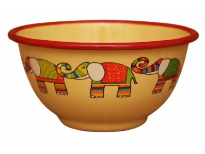 2198 yellow bowl with elephant