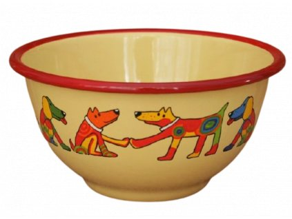 2201 yellow bowl with dogs