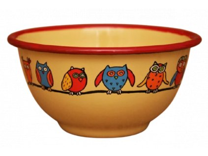 2204 yellow bowl with owls