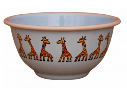 2219 blue bowl with giraffe
