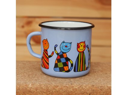 Blue mug with a cat (quality 3rd class)